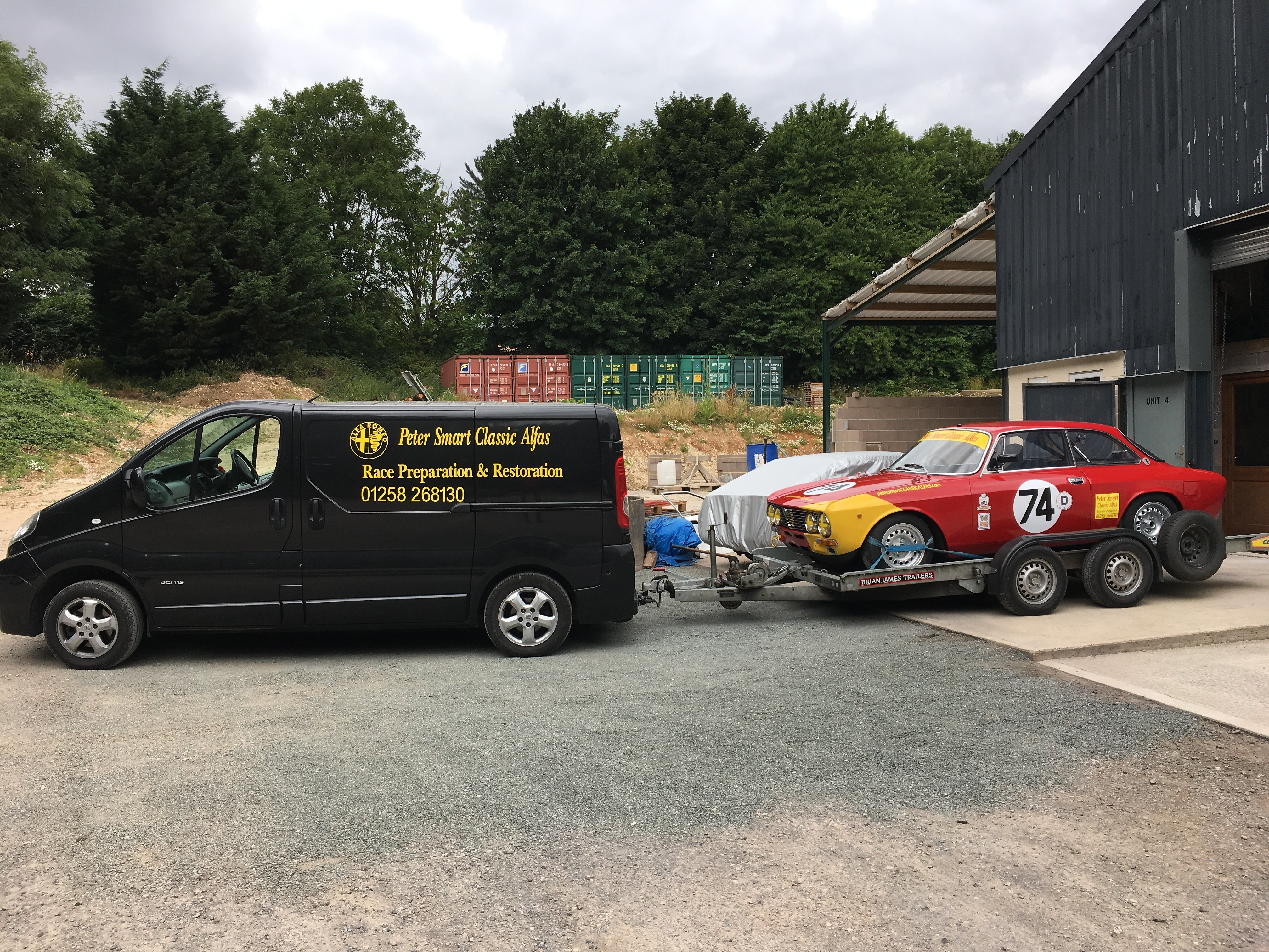Race/Rally Preparation and Race Support. Race vehicle transportation