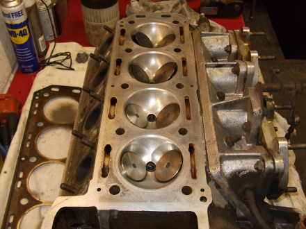 In the Workshop. cylinder head rebuild